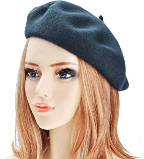 421d81d57f009 ZLYC Wool Beret Hat Classic Solid Color French Beret for Women Girls