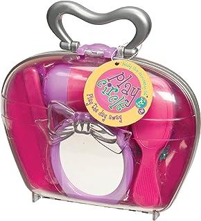 بازی Circle by Battat - مجموعه آرایش مو فروشگاه زیبایی - بچه ها 15 قطعه کار بازی سشوار و مجموعه برس با لوازم جانبی مو - Pretend Play Salon Beauty مخصوص کودکان 3 سال به بالا
