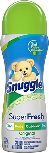 Snuggle Scent Shakes in-Wash Scent Booster Laundry Beads for Super-Fresh Original 3-in-1 Odor Elimination Green 19 Oz