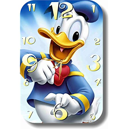 Donald Duck Wall Clock 11 X 17 Quiet Mechanism Exclusive Handmade Wall Clock Donald Duck Unique Item For Home And Office Original Present For Every Occasion Made Of Acrylic