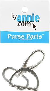 Patterns ByAnnie Hardware Set Nickel 1in Swivel Hook & D-Ring