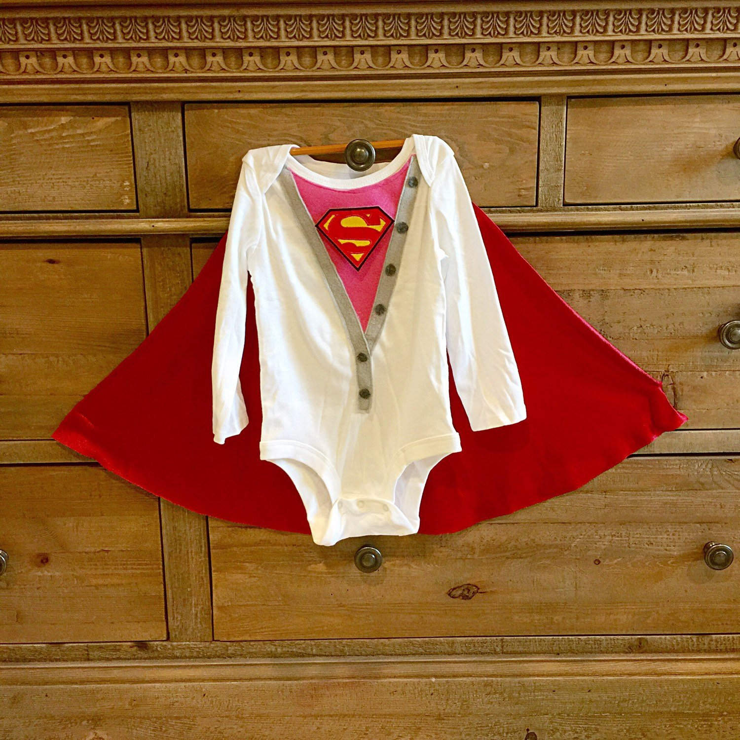 Handmade Baby Girl Super Hero One Superwoman superbaby Selling Ranking integrated 1st place rankings Supergirl