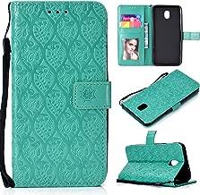 Galaxy J7 Star/J7 V 2nd Gen/J7 Crown/J7 Prime/J7 Refine/J7 Aero/J7 Aura/J7 Top/J7 Eon/J7 2018 Case, Leather Wallet Flip Protective Case Cover Skin with Card Slots and Stand for Samsung J737 (Green)