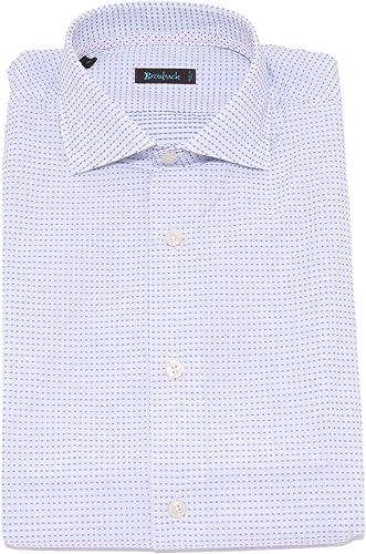 BROUBACK 1656X Camicia hommes Texturouge Shirt blanc bleu Cotton Man