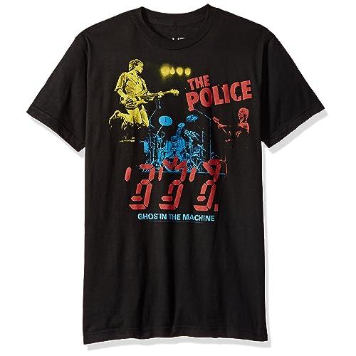13881aa82 Liquid Blue Men's The Police in Concert Short Sleeve T-Shirt