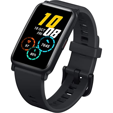 """Honor Watch ES Smart Watch, 1.64"""" AMOLED 5ATM Waterproof 10 Days Standby Smart Bracelet with Bluetooth 30mm Fitness Tracker Activity Tracker (Black)"""