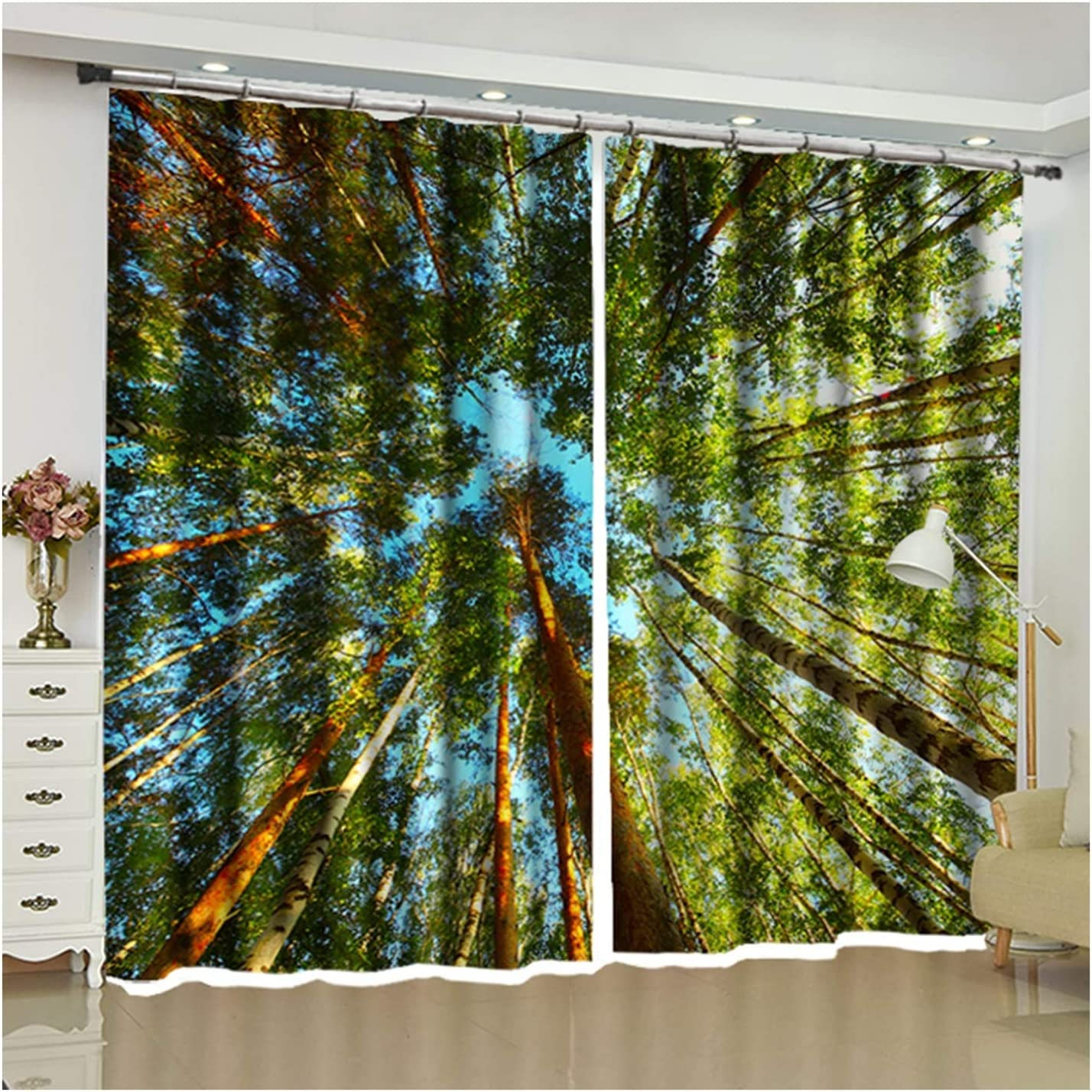 Daesar Curtain for Living Room Modern S Large discharge sale Louisville-Jefferson County Mall Curtains 2 Window Panel