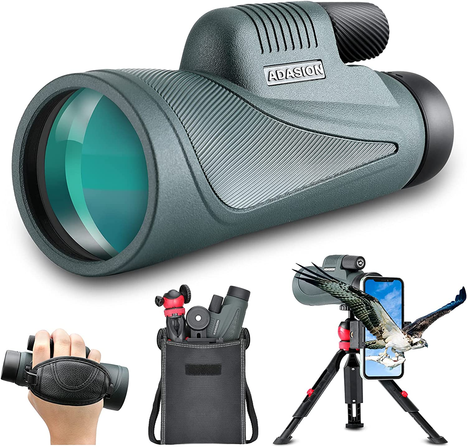 12x56 HD Monocular Telescope Superior with Adapter Upgraded T Smartphone OFFicial site