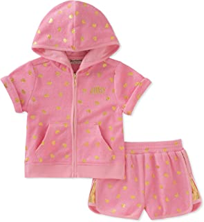 Juicy Couture Girls' 2 Piece Hoodie & Short Set