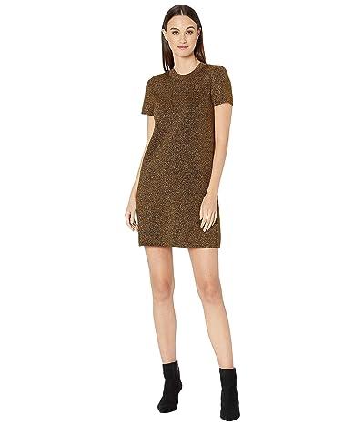 Milly Metallic Mod Dress (Gold) Women