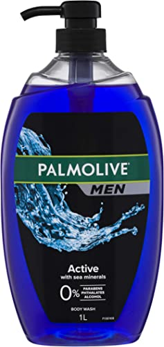 Palmolive Men Active Body Wash With Sea Minerals 0 percentage Parabens Dermatologically Tested pH Balanced Recyclable...
