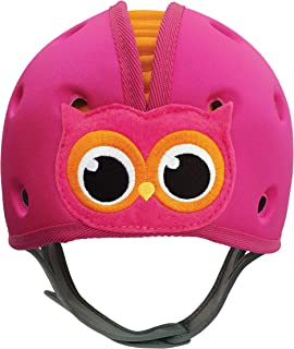 SafeheadBABY Soft Helmet for Babies Learning to Walk - Owl Pink Orange
