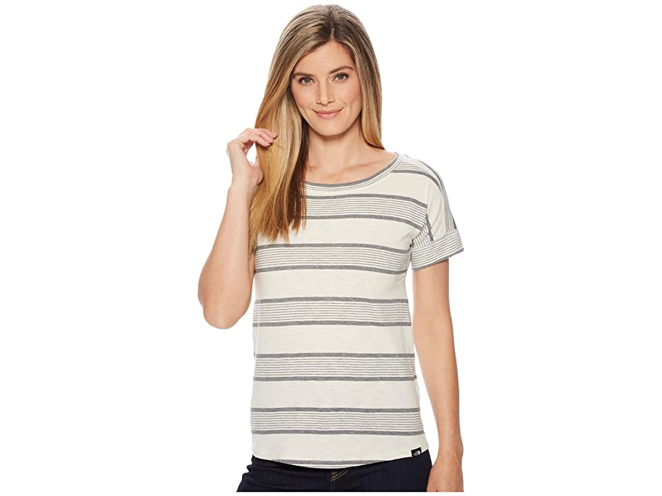 The North Face Short Sleeve Sand Scape Tee (Vintage White Stripe) Women
