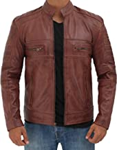 Brown Leather Jacket for Men - Distressed Genuine Motorcycle Leather Jackets
