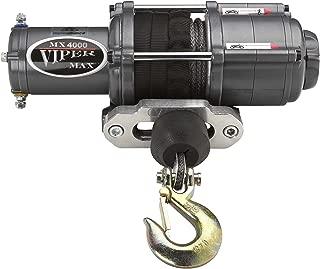 MotoAlliance VIPER Max ATV/UTV Winch 4000lb with 50 feet BLACK Synthetic Rope