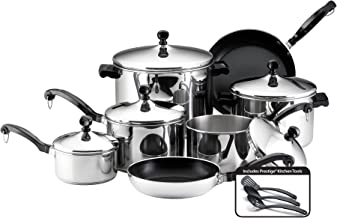 Best farberware stainless steel 15 pc cookware set Reviews