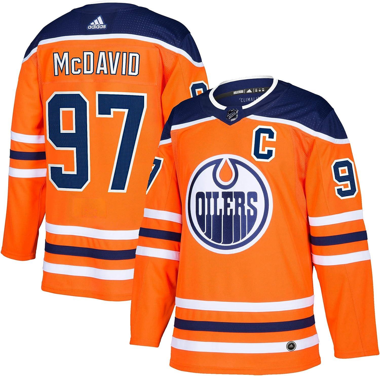 Connor McDavid Edmonton Oilers adidas adizero NHL Authentic Pro Home Jersey   Size 50 (M)
