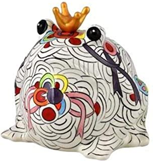 Pomme Pidou | skarbonka ceramiczna | żaba Freddy | Medium | Ceramiczna skarbonka z otworem na monety i bardzo piękną ozdob...