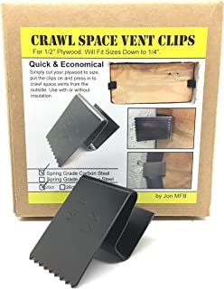 Crawl Space and Foundation Vent Cover Clips (Accommodates 10 Vents) - Carbon Steel.