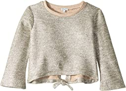 Lurex French Terry Back Tie Top (Big Kids)