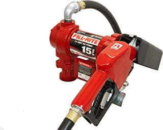 Fill-Rite FR1210GA 12V 15 GPM (57 LPM) Fuel Transfer Pump with Discharge Hose, Automatic Nozzle (Unleaded), Suction Pipe