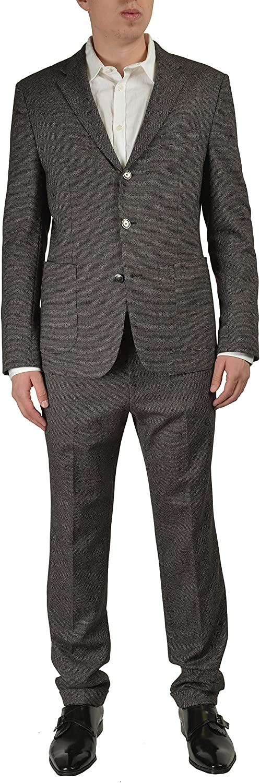 Hugo Boss Nowis/Beat Men's Gray Wool Three Button Suit Size US 40 IT 50