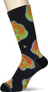 Stance Thermal Floral Crew Socks in Black