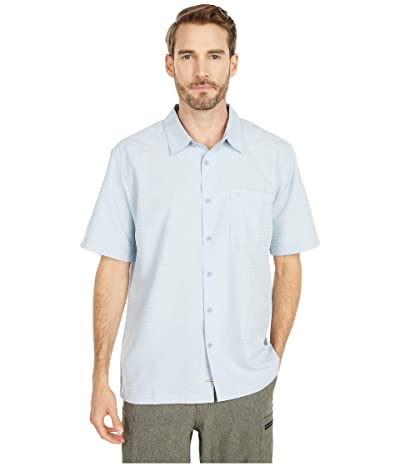 Quiksilver Waterman Centinela 4 Short Sleeve Shirt (Dusty Blue) Men