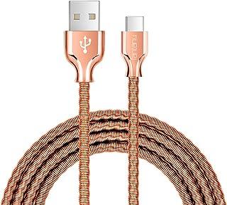 كابل USB من النوع C، كابل شحن USB A إلى C متين من المعدن متوافق مع Galaxy S10، S9، S9+، S8، S8+، Note 8، 9، LG V40، 50 G7،...
