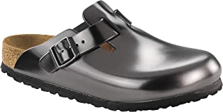 0f21aaf99d69 Birkenstock Women s Boston Soft Footbed Anthracite Leather Clogs 38 N (US  Women s ...