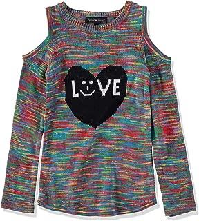 Derek Heart Girl Big Girls' Cold-Shoulder Marled Sweater