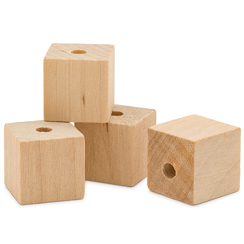 Wooden Square Beads 1