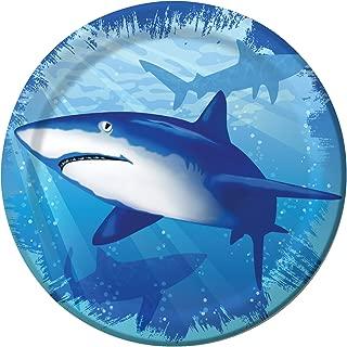 8-Count Round Paper Dessert Plates, Shark Splash