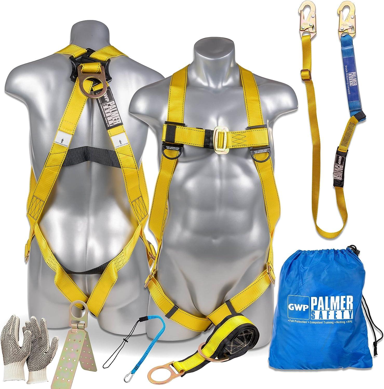 Palmer Safety Fall Protection 最新 Harness Universal w 安心と信頼 Detacha