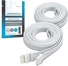 Litcessory Verlengkabel voor Philips Hue Lightstrip Plus (1m, Pakket van 2, Wit)