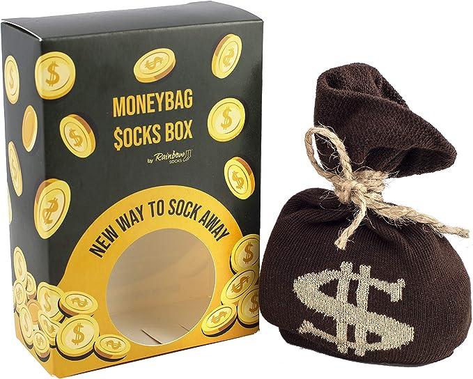 31 opiniones para Rainbow Socks- Hombre Mujer Divertidos Calcetines Bolsas Con Dinero- 1 Par