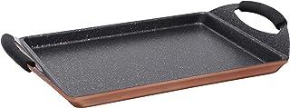 Infinity Chefs BGIC-1006 Plancha Rectangular 40 x 24 cm, Aluminio Fundido, Marrón (Copper)