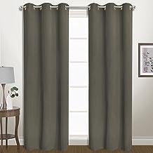زوج ستارة نافذة من United Curtain Belize Blackout ، 80 بوصة × 84 بوصة ، بلاتينيوم