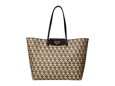 Salvatore Ferragamo Travel Tote Large (Gancini Print) Handbags