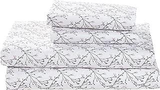 Stone & Beam Remy 100% Cotton Sateen Bed Sheet Set, Queen, Regatta