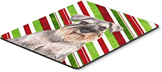 Caroline's Treasures Candy Cane Holiday Christmas Schnauzer Mouse Pad/Hot Pad/Trivet (KJ1172MP)