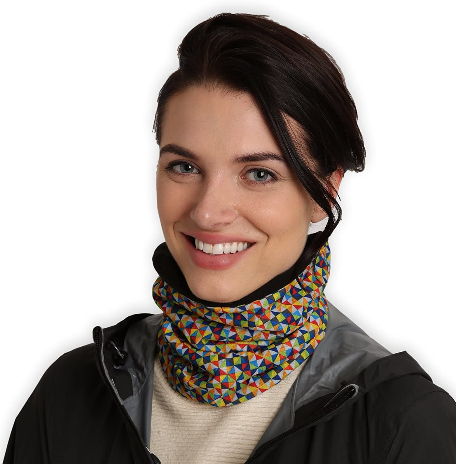 Womens Neck Warmer - Winter Fleece Neck Gaiter, Ski Tube Scarf - Cold Weather Face Mask Cover for Thermal Retention