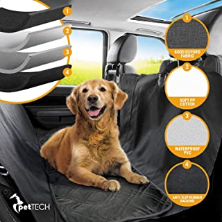 Pet Union Luxury Car Seat Cover/Hammock for Rear Bench (for Large & Small Dogs), Simple Installation & Easy to Clean, Protect Your Car, 100% Waterproof, Anti-Slip Design, Travel Worry-Free