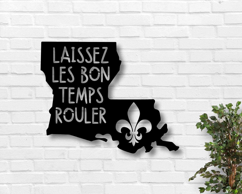 Tamengi Laissez latest Les Bon Temps Rouler Metal - Sign New York Mall Louisiana Meta