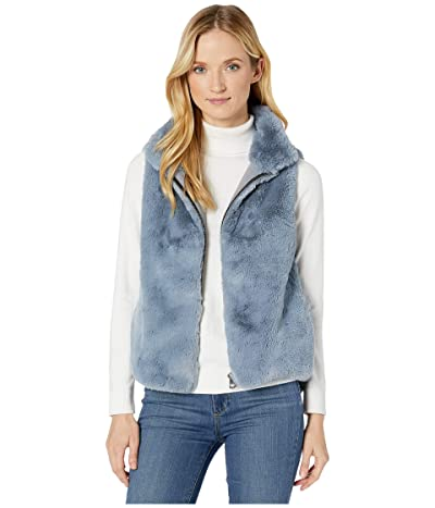 Dylan by True Grit Ultra Lux and Plush Shearling Faux Fur Vest (Denim) Women