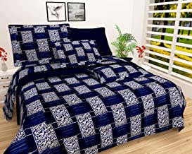 VYBBA Microfiber 1 Double Bed Bedsheet with 2 Pillow Cover (Multicolour) -Set of 3 Pieces