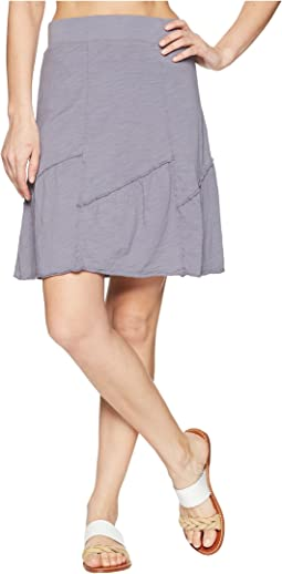 Slub Jersey Asymmetrical Seamed Skirt