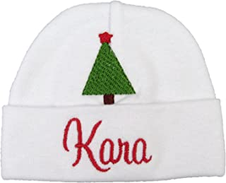 34e3a903b4e Custom Baby Hat with Embroidered Christmas Tree for Newborn or Preemie