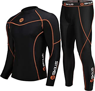 Skills Men's Ultra Soft Lycra compression base layer dri fit shirt and running tights