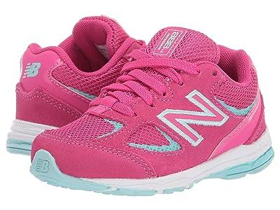 New Balance Kids IK888v2 (Infant/Toddler) (Exhuberant Pink/Bali Blue) Girls Shoes